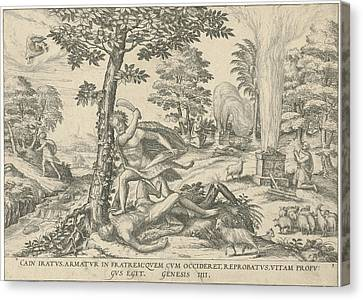 Cain And Abel, Attributed To Symon Novelanus Canvas Print
