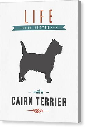Puppy Canvas Print - Cairn Terrier 01 by Aged Pixel
