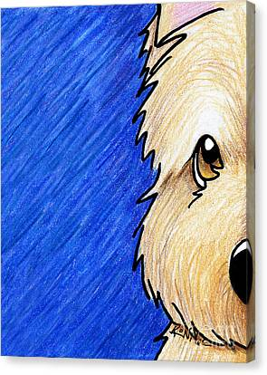 Cairn Terrier Up Close Canvas Print by Kim Niles