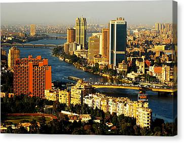 Cairo From Above Canvas Print by Chaza Abou El Khair