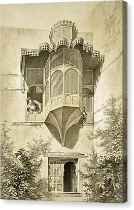 Cairo House Called Beyt El-emyr , 19th Canvas Print
