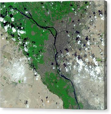 Cairo Canvas Print by Nasa/gsfc/meti/japan Space Systems/u.s.,japan Aster Science Team