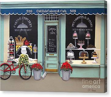 Caitlin's Cakery And Cafe Canvas Print by Catherine Holman