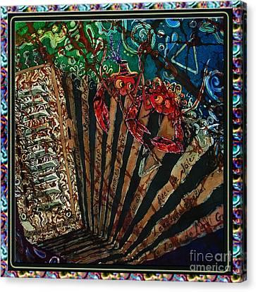 Cajun Accordian - Bordered Canvas Print by Sue Duda