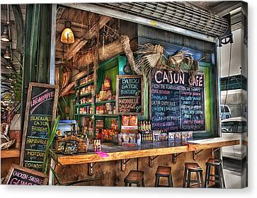 Cajun Cafe Canvas Print by Brenda Bryant