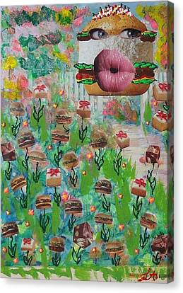 Fun Canvas Print - Cake Burger by Lisa Piper