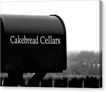 Cakebread Cellars Canvas Print by Jeff Lowe