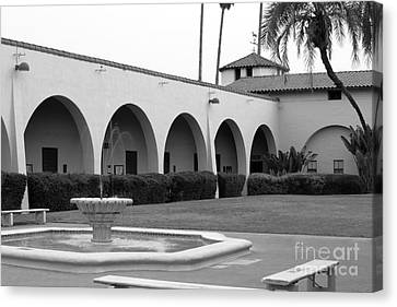 Cal Poly Pomona Union Plaza Canvas Print by University Icons