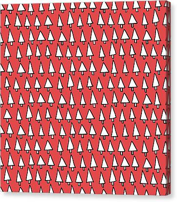 Cal Tree Red Canvas Print