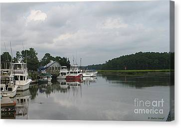 Sofa Size Canvas Print - Calabash Dockside - Boats At Marina by Shelia Kempf