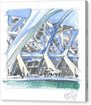 Calatrava 1 Canvas Print by Olga Sorokina