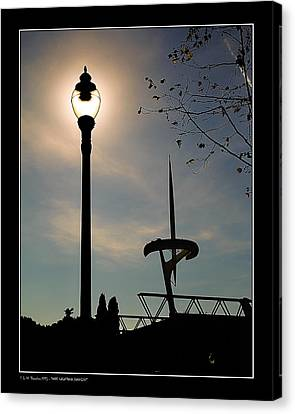 Canvas Print featuring the photograph Calatrava Tower Backlight by Pedro L Gili