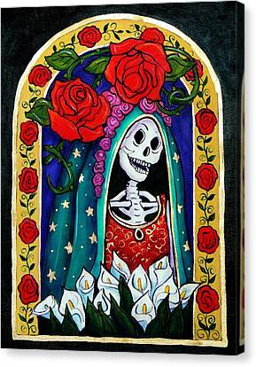 Calavera Guadalupe Canvas Print by Candy Mayer