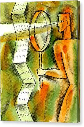 Calculation Canvas Print by Leon Zernitsky