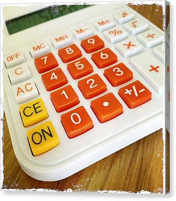 Calculator Canvas Print by Les Cunliffe