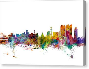 Calcutta Kolkata India Skyline Canvas Print