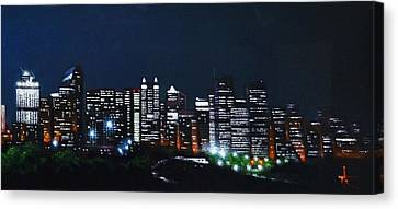 Calgary Canada No Moon Canvas Print