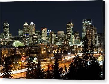 Downtown Canvas Print - Calgary Skyline by Domenik Studer