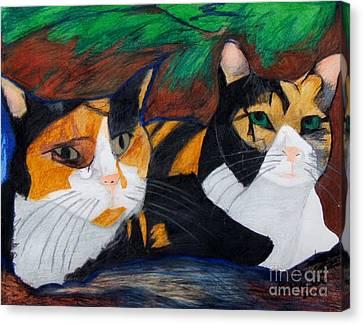Calico Cats Canvas Print