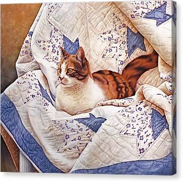 Animal Quilts Canvas Print - Calico by  Julius and Victoria Lisi