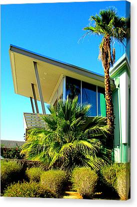 Overhang Canvas Print - California Beach House by Randall Weidner