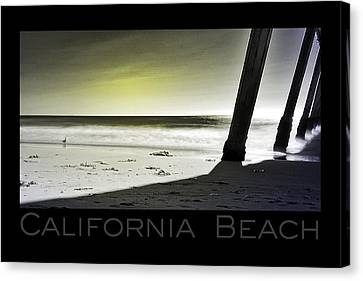 Canvas Print featuring the photograph California Beach by Kevin Bergen
