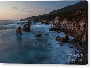 California Coast Dusk Canvas Print by Mike Reid