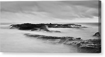California Coast Long Exposure In The Morning Canvas Print by Andrew Raby