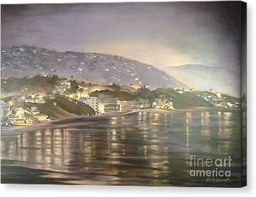 Canvas Print featuring the painting California Coastal by Renee Womack