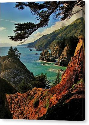 California Coastline Canvas Print by Benjamin Yeager