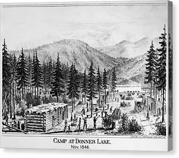 California Donner Lake Canvas Print by Granger