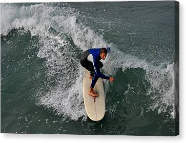 California Dreamin Surfer Canvas Print by Diane Lent
