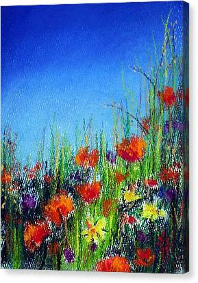 Canvas Print featuring the pastel California Dreaming by Jodie Marie Anne Richardson Traugott          aka jm-ART