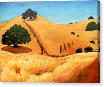 California Dry Grass Canvas Print by Gary Coleman