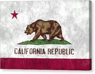 California Flag Canvas Print by World Art Prints And Designs