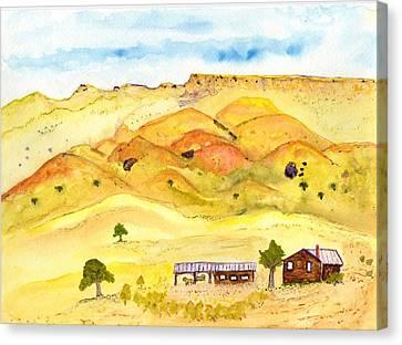 California Foothill Homestead Canvas Print