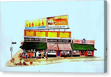 California Fruit Market Canvas Print by William Renzulli