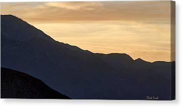 California Golden Desert Sunset Canvas Print by Heidi Smith