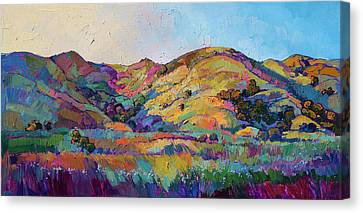 Expressionist Canvas Print - California Greens II by Erin Hanson
