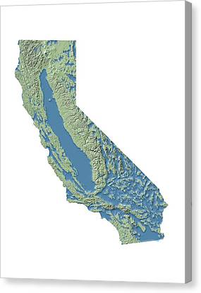 Resource Canvas Print - California Groundwater Map by Nicolle R. Fuller