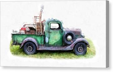 Labelled Canvas Print - California Or Bust II by Edward Fielding