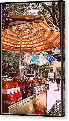 Canvas Print featuring the photograph California Oranges by Miriam Danar