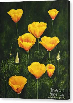 Black Artist Canvas Print - California Poppy by Veikko Suikkanen