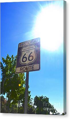 Canvas Print featuring the photograph California Route 66 by Utopia Concepts