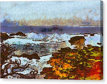 California Seascape Canvas Print by Barbara Snyder