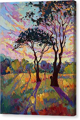 California Sky Quadtych - Lower Left Panel Canvas Print by Erin Hanson