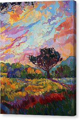 California Sky Quadtych - Lower Right Panel Canvas Print by Erin Hanson