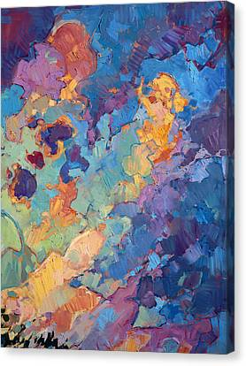 California Sky Quadtych - Upper Right Panel Canvas Print by Erin Hanson