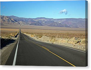 Panamint Valley Canvas Print - California State Highway by Jim West
