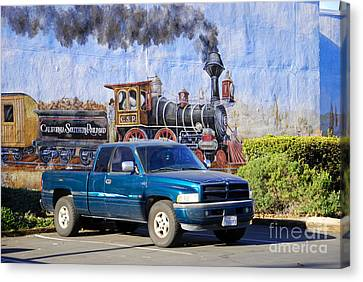California Steamin' Canvas Print by Andrea Simon